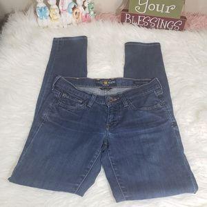 Lucky brand Charlie skinny denim jeans size 0/25